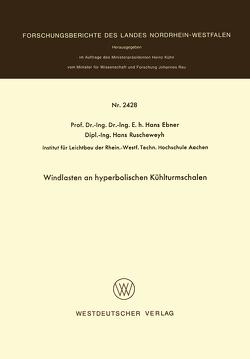 Windlasten an hyperbolischen Kühlturmschalen von Ebner,  Hans