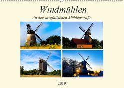 Windmühlen an der westfälischen Mühlenstraße (Wandkalender 2019 DIN A2 quer) von Riedel,  Tanja