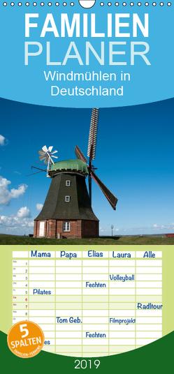 Windmühlen in Deutschland – Familienplaner hoch (Wandkalender 2019 , 21 cm x 45 cm, hoch) von Scholz,  Frauke