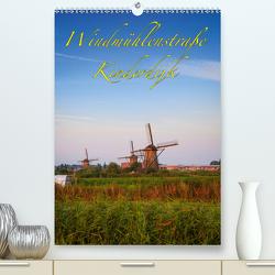 Windmühlenstraße Kinderdijk (Premium, hochwertiger DIN A2 Wandkalender 2020, Kunstdruck in Hochglanz) von Wigger,  Dominik