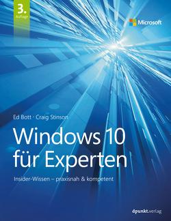 Windows 10 für Experten von Bott,  Ed, Johannis,  Detlef, Stinson,  Craig