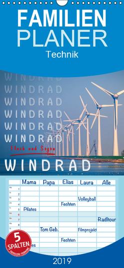 Windrad – Fluch und Segen – Familienplaner hoch (Wandkalender 2019 , 21 cm x 45 cm, hoch) von Roder,  Peter