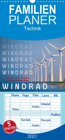 Windrad – Fluch und Segen – Familienplaner hoch (Wandkalender 2021 , 21 cm x 45 cm, hoch) von Roder,  Peter