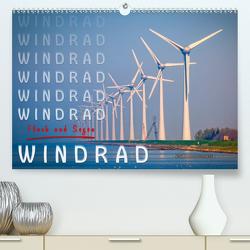 Windrad – Fluch und Segen (Premium, hochwertiger DIN A2 Wandkalender 2021, Kunstdruck in Hochglanz) von Roder,  Peter