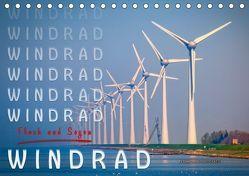 Windrad – Fluch und Segen (Tischkalender 2019 DIN A5 quer)