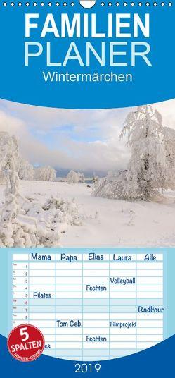 Wintermärchen – Familienplaner hoch (Wandkalender 2019 , 21 cm x 45 cm, hoch) von Pi,  Dora
