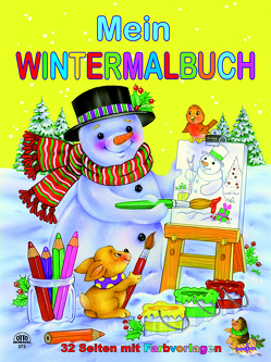 Wintermalbuch gelb