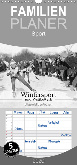 Wintersport und Wettbewerb – Familienplaner hoch (Wandkalender 2020 , 21 cm x 45 cm, hoch) von bild Axel Springer Syndication GmbH,  ullstein