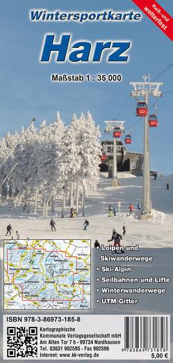 Wintersportkarte Harz