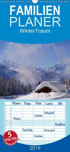 WinterTraum – Familienplaner hoch (Wandkalender 2019 , 21 cm x 45 cm, hoch) von Michel,  Susan