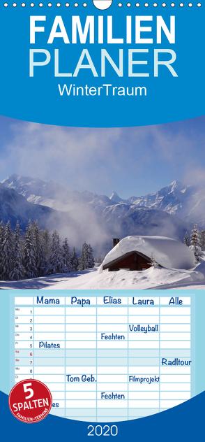 WinterTraum – Familienplaner hoch (Wandkalender 2020 , 21 cm x 45 cm, hoch) von Michel,  Susan
