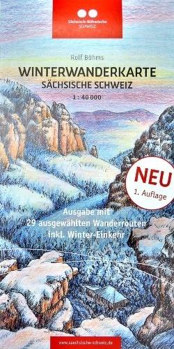 Winterwanderkarte Sächsische Schweiz 1:40000 von Böhm,  Rolf