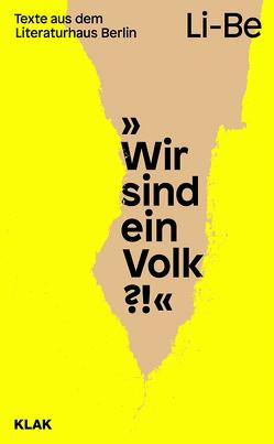 Wir sind ein Volk?! von Gelinek,  Janika, Longolius,  Sonja