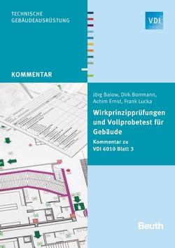Wirkprinzipprüfungen und Vollprobetest für Gebäude von Balow,  Jörg, Borrmann,  Dirk, Ernst,  Achim, Lucka,  Frank