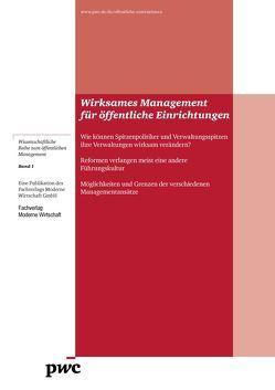 Wirksames Management für öffentliche Einrichtungen von Detemple,  Peter, Marettek,  Christian, Pricewaterhouse Coopers AG