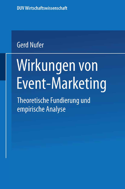 Wirkungen von Event-Marketing von Nufer,  Gerd