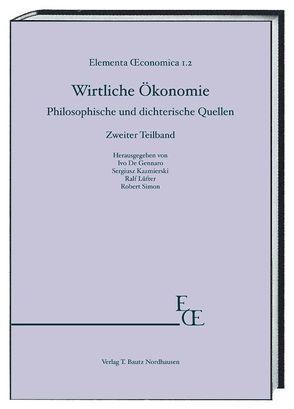 Wirtliche Ökonomie von De Gennaro,  Ivo, Kazmierski,  Sergiusz, Lüfter,  Ralf, Simon,  Robert