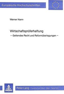 Wirtschaftsprüferhaftung von Nann,  Werner