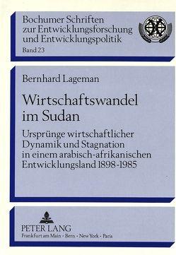 Wirtschaftswandel im Sudan von Lagemann,  Bernhard