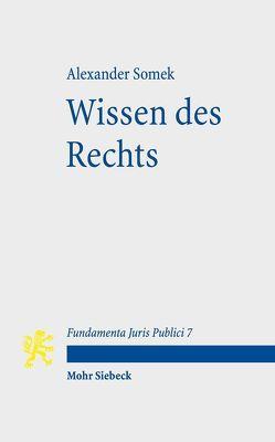 Wissen des Rechts von Funke,  Andreas, Somek,  Alexander, Vesting,  Thomas