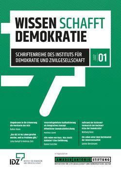 Wissen schafft Demokratie. Band 1. von Dieckmann,  Janine, Geschke,  Daniel, Quent,  Matthias