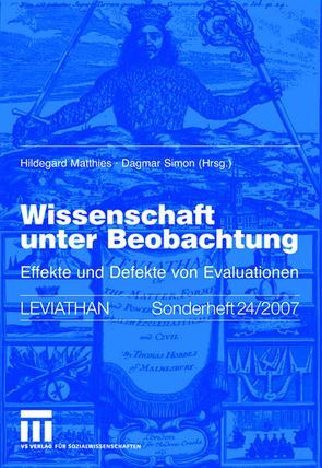 Wissenschaft unter Beobachtung von Matthies,  Hildegard, Simon,  Dagmar