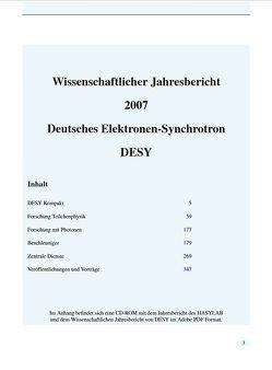 Wissenschaftlicher Jahresbericht DESY 2007