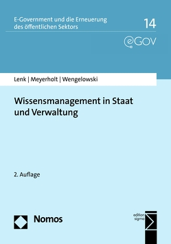 Wissensmanagement in Staat und Verwaltung von Lenk,  Klaus, Meyerholt,  Ulrich, Wengelowski,  Peter