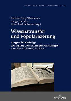 Wissenstransfer und Popularisierung von Breckle,  Margit, Enell-Nilsson,  Mona, Skog-Södersved,  Mariann