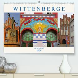 Wittenberge an der Elbe (Premium, hochwertiger DIN A2 Wandkalender 2020, Kunstdruck in Hochglanz) von M. Laube,  Lucy
