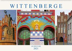 Wittenberge an der Elbe (Wandkalender 2021 DIN A2 quer) von M. Laube,  Lucy