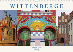 Wittenberge an der Elbe (Wandkalender 2021 DIN A3 quer) von M. Laube,  Lucy