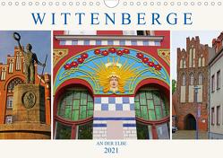 Wittenberge an der Elbe (Wandkalender 2021 DIN A4 quer) von M. Laube,  Lucy