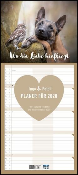 Wo die Liebe hinfliegt – Ingo, Poldi und Freunde – Planer 2020 – Mit 3 Spalten – Format 22 x 49,5 cm von Brandt,  Tanja, DUMONT Kalenderverlag