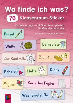 Wo finde ich was? 70 Klassenraum-Sticker von Verlag an der Ruhr,  Redaktionsteam
