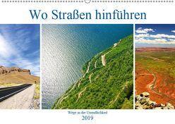 Wo Straßen hinführen (Wandkalender 2019 DIN A2 quer) von by Sylvia Seibl,  CrystalLights