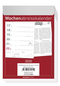 Wochenabreißkalender 2020 – Wandkalender – Bürokalender (10,5 x 15) – 1 Woche 1 Seite – mit Sudokus, Rezepten, Rätseln uvm. von ALPHA EDITION