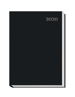 """Wochenbuch """"schwarz"""" 2020"""