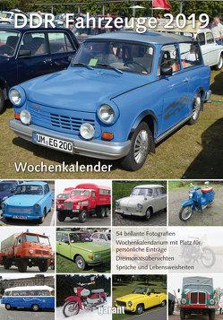 Wochenkalender DDR Fahrzeuge 2019 von garant Verlag GmbH