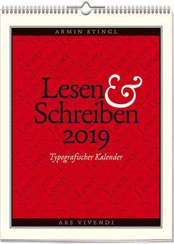 Wochenwandkalender: Lesen & Schreiben – Typografischer Kalender 2019