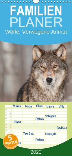 Wölfe. Verwegene Anmut – Familienplaner hoch (Wandkalender 2020 , 21 cm x 45 cm, hoch) von Stanzer,  Elisabeth