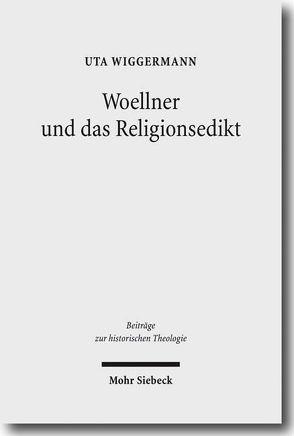 Woellner und das Religionsedikt von Wiggermann,  Uta