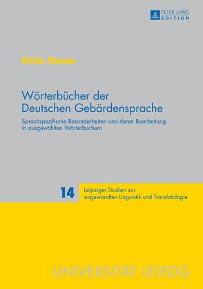 Wörterbücher der Deutschen Gebärdensprache von Thamm,  Ulrike