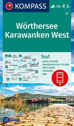 KOMPASS Wanderkarte Wörthersee, Karawanken West von KOMPASS-Karten GmbH