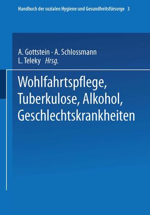 Wohlfahrtspflege Tuberkulose · Alkohol Geschlechtskrankheiten von Dresel,  Ernst Gerhard, Gottstein,  Adolf, Schloßmann,  Arthur, Teleky,  Ludwig