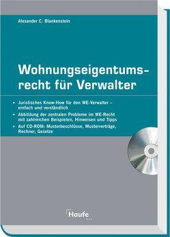 Wohnungseigentumsrecht für Verwalter von Blankenstein,  Alexander