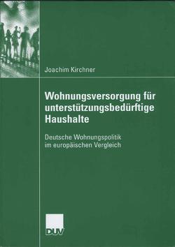 Wohungsversorgung für unterstützungsbedürftige Haushalte von Kirchner,  Joachim