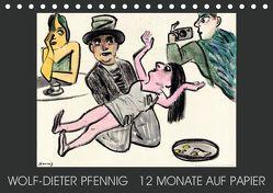 Wolf-Dieter Pfenning – 12 Monate auf Papier (Tischkalender 2019 DIN A5 quer) von Pfennig,  Wolf-Dieter