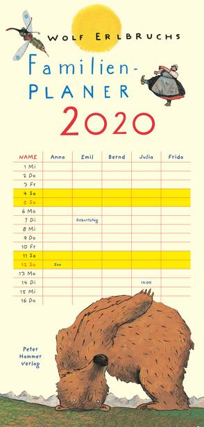 Wolf Erlbruchs Familienplaner 2020 von Erlbruch,  Wolf
