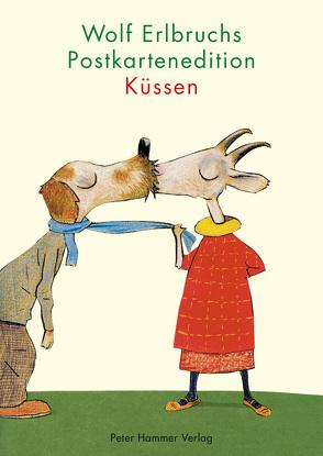 Wolf Erlbruchs Postkartenedition Küssen von Erlbruch,  Wolf